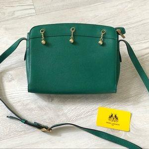 Didier Lamarthe Designer Vintage Green Leather Bag